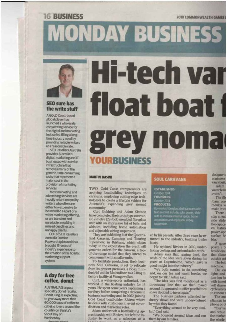 SEO RESELLERS AUSTRALIA LAUNCHES WHOLESALE COPYWRITING SERVICE IN GOLD COAST BULLETIN